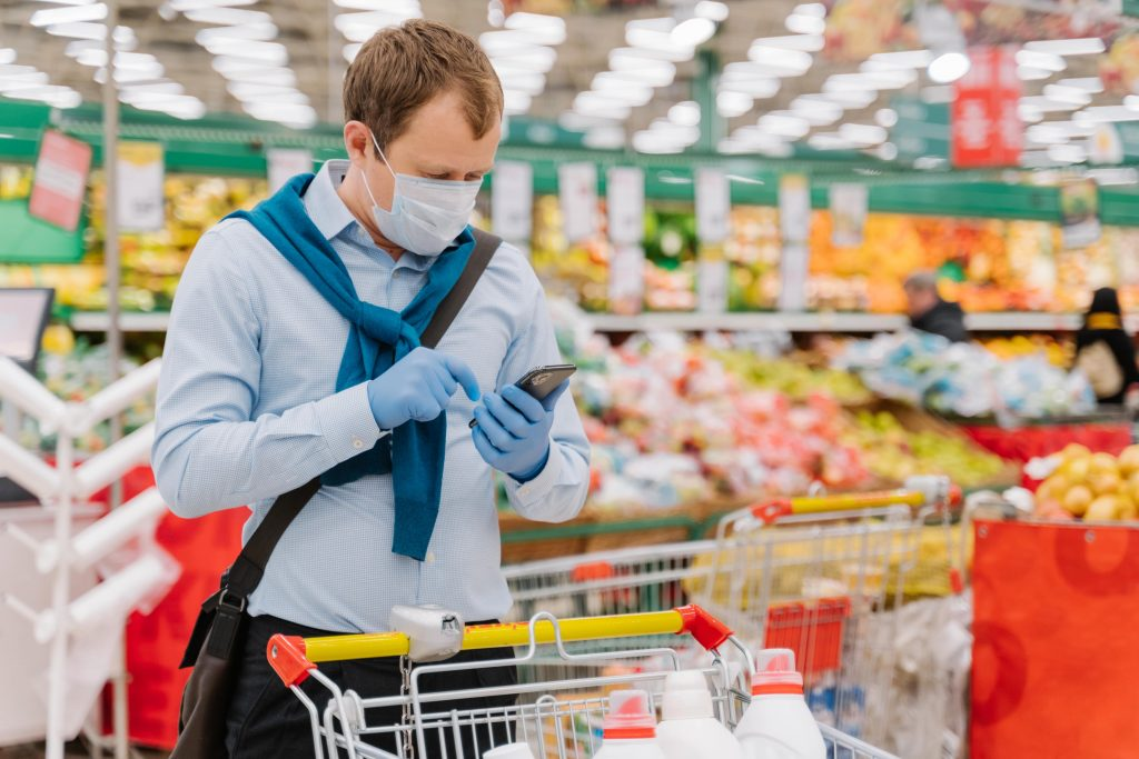 Online grocery sales in 2020