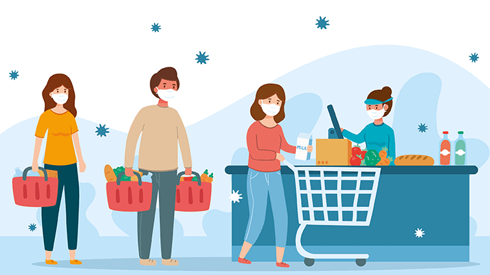 counter delay at supermarkets